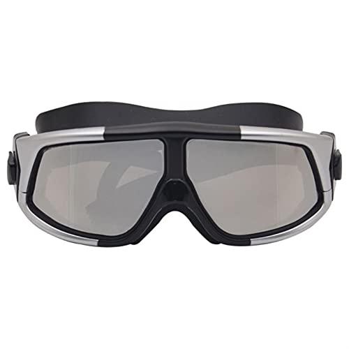 LANGTAOMY Gafas de Natación Gafas de natación Gafas de natación de Marco Grande de Silicona Anti- Niebla UV Mascarilla de natación para Adultos Gafas (Color : S)
