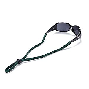 Sunglasses Neck Holder Strap Sports Eyeglass Cord Adjustable Safety Eyewear Retainer Blue/Red/Green/Brown/White Camo - Pack of 5