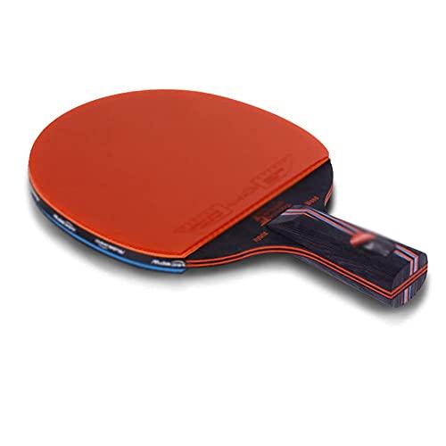 JIANGCJ bajo Precio. Juego de Raquetas de Tenis de Mesa Paquete | Incluye 2 Ping Pong Paddle Pro Premium | 3 Bolas de Ping Pong, 1 Carry Tourn Case-E