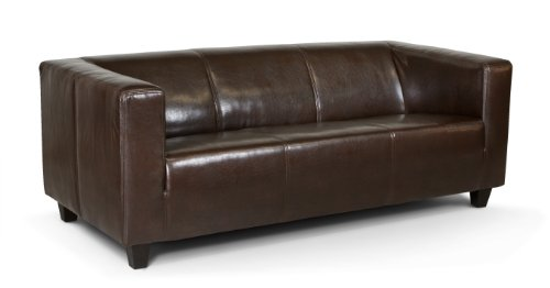 Collection AB 3-Sitzer Sofa Kuba 186 x 88 cm, Kunstleder, braun
