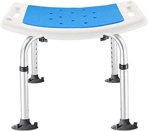 MUMUMI Duschsitze, Duschhocker Dusche Hocker Badstuhl Badezimmer Sitz-Lightweight Aluminium-Tragbare Ältere Behinderte Traggewicht 150 Kg Badestuhl Für Ältere Menschen, Senior, Handicap Deaktiviert