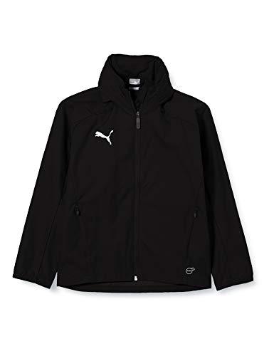 PUMA Kinder Liga Training Rain Jacket, Black White, 176