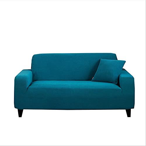 OKJK Protector Sofa Gatos arañazo para Sala de Estar Fundas Sofa elasticas de Tela Gruesa de Forro Polar,Fundas para Sofa Chaise Longue sillón decoración del hogar (Turquoise Blue,4-Seater 235-300cm)