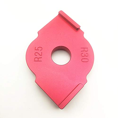 Abkendg 3pcs / Set Radio de Quick-Jig Router Tabla de bits R5 R10 R15 R20 R25 R30 Corner Jig (Size : R25 R30)