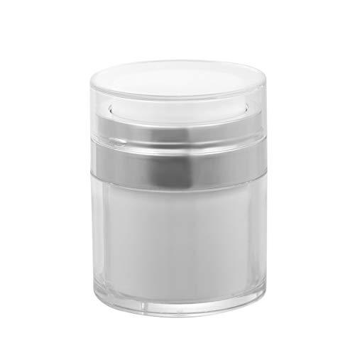 Minkissy 2 Stück Leere Kosmetikflaschen Airless-Vakuumpumpe Klarer Airless-Spender Nachfüllbare Behälter Ideal für Creme Foundation Gel-Feuchtigkeitscremes (30 G)