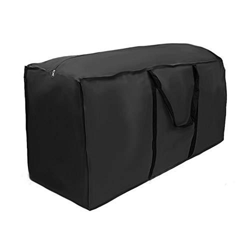 78Henstridge Schutzhülle für Auflagen Aufbewahrungstasche Wasserabweisende Gartenpolster Aufbewahrung Tasche Oxford Aufbewahrungstasche mit Tragegriff für Auflagen Kissen Weihnachtsbaum (122x39x55cm)