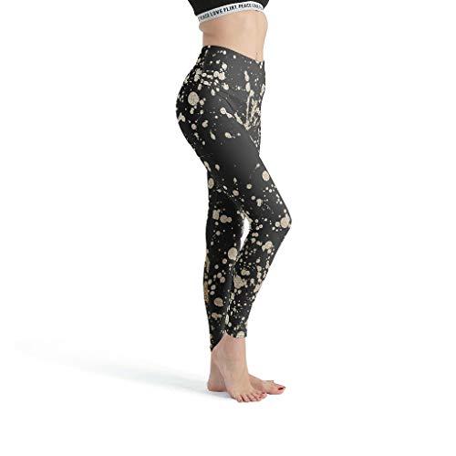 O3XEQ-8 Leggings deportivos para mujer, color blanco, talla M