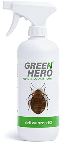 Green Hero Bettwanzen-Ex Spray zur Bettwanzenbekämpfung, 500 ml, Fernhaltemittel gegen Bettwanzen und Milben, Abwehrspray, Vertreibungsmittel
