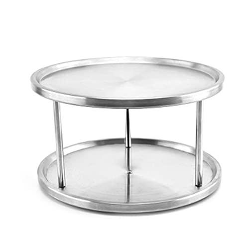 OKAYOU ステンレス鋼のレイジースーザン-2層設計、360度ターンテーブル
