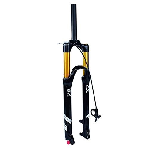 Horquilla MTB Remote Control 26/27,5/29 Pulgadas, Aleación Magnesio 1-1/8' Horquilla de Aire Suspensión Bicicleta Viaje 140mm (Color : Straight Tube, Size : 27.5 Inch - 130mm)