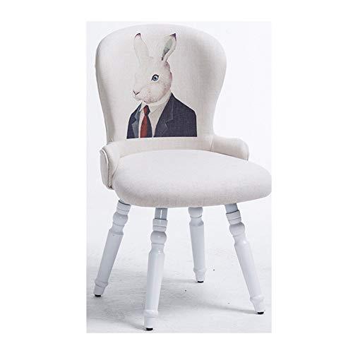 Silla de Comedor de Madera Maciza de patrón Animal, Silla de Escritorio, Silla de Respaldo, Silla de Estudio, vestidor, sillón de salón-1
