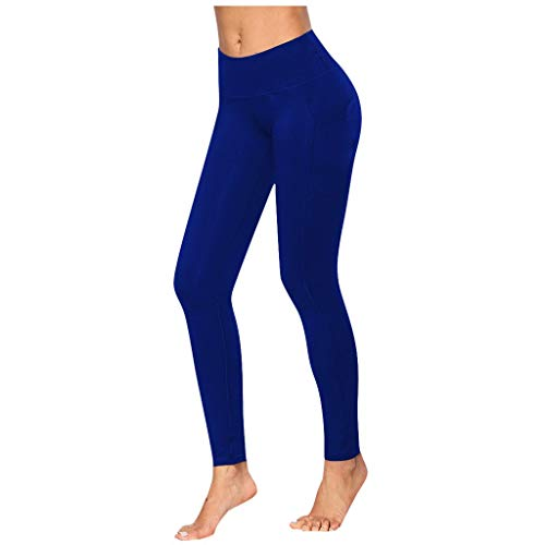 riou Pantalones de Yoga Mujer Cintura Alta Leggings Mallas Color Puro Push up Mujer Yoga Pantalón,Leggins Anticeluliticos , para Running Training Fitness Estiramiento Yoga y Pilates