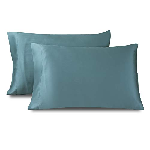 """Dornroscn Bamboo King Size Pillowcase (20""""x40"""",Sea Grass) Cool Bamboo Pillow Cover Set of 2 - Breathable Pillow Protectors Moisture Wicking Material for Hot Sleepers Night Sweats"""