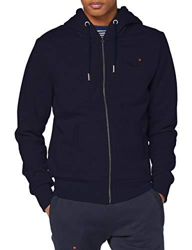 Superdry Męska bluza Ol Classic Ziphood Ns, Rich Navy, XL