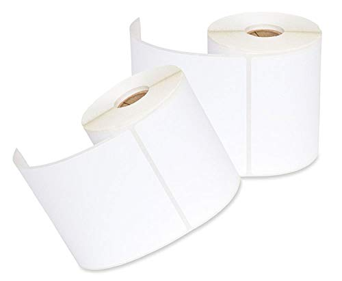 iMBAPrice 2 Rolls of 250 (USA Made) 4x6 Direct Thermal for Zebra 2844 ZP-450 ZP-500 ZP-505 Shipping Labels Perfect Roll for 1 INCH CORE Thermal Laser Printers