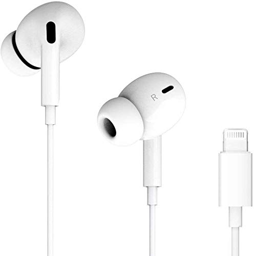 Lighting Headphones/Earphones/Earbuds, Built-in Microphone and Volume Control,Suitable for iPhone 11 Pro Max/X/XS/XS MAX/XR/8/8P/7/7P/iPad Pro/iPad Air/iPad Mini/iPod