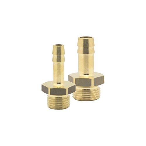 Elmag Druckluft-Schlauchtülle | mit Außengewinde 1/4 Zoll | für 9mm Schlauch