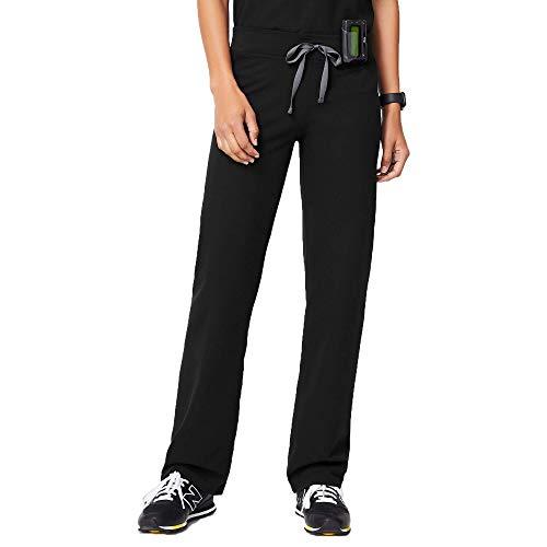 FIGS Livingston Basic Medical Scrub Pants for Women (Black, X-Small)