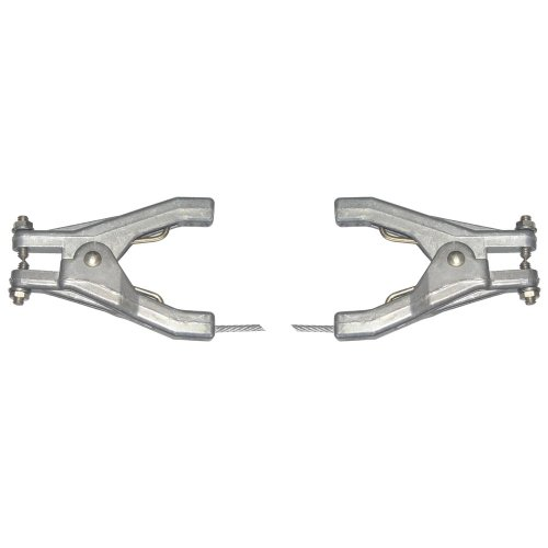 Lind Equipment LE60HH-120 Static Grounding Assembly, Two REB clamps, 10ft 1/8' Plated Steel Cable