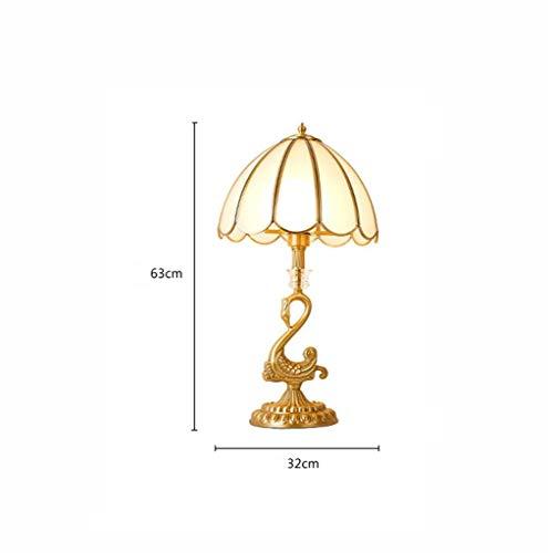 bideng Europäischen Stil Kupfer Tischlampe edle Luxus Retro Schlafzimmer Schreibtisch Lampe Tisch Tisch Tischlampe American Hochzeit Raum Atmosphäre Tischlampe