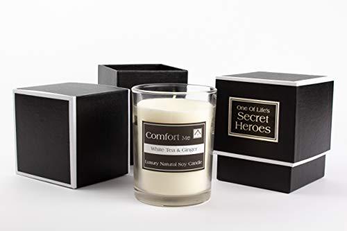 NN Natalia Nicholson Comfort Me Soy Wax Vegan Candle Gift Set - White Tea & Ginger Scented (4M-BS3T-OV9V)