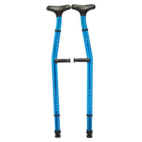 Deambulatore deambulatore, stampella Doppia ergonomica Regolabile con stampelle ascellari (1 Paio) di stampelle ascellari con Ammortizzatore a Doppia Funzione con Supporto per Il Braccio Tubo in Leg
