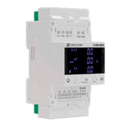 Analizador de redes eléctricas trifásico para carril DIN, modelo CVM-E3-MINI-ITF-WIETH, corriente de...