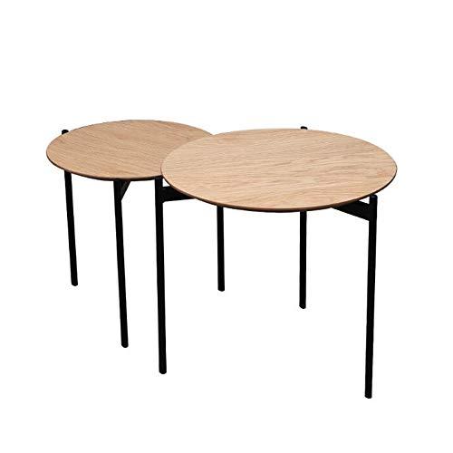 Desk XIAOLIN ronde salontafels bijzettafels moderne metalen poten occasionele Nesting tafels balkon woonkamer Set van 2