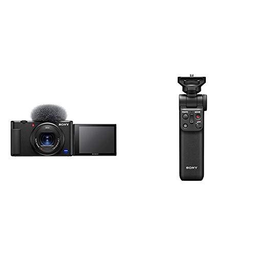 Sony Vlog Camera ZV-1 Fotocamera Digitale con Schermo LCD Direzionabile Ottima per Vlog e Video 4K + GP-VPT2BT Shooting Grip Bluetooth con Funzione Telecomando Wireless e Treppiedi, Nero
