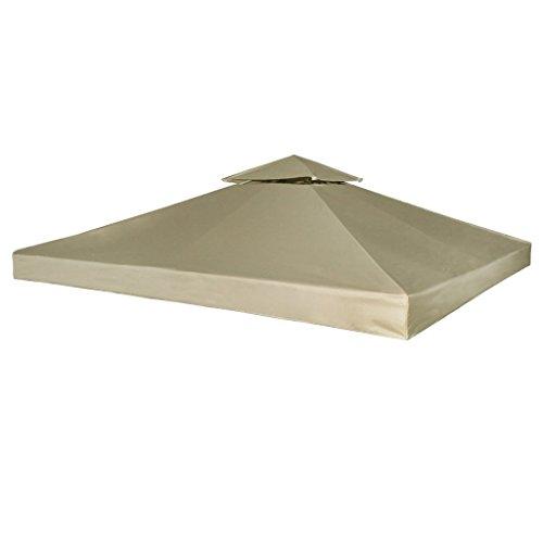 Festnight Toile de Rechange pour Pergola Gazebo Blanc / Beige / Vert / Gris Foncé 270 g / m²