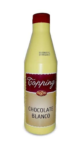 Topping Cresco Profesional 1kg. Salsa para decoracion helados, postres, yogurth, batidos. (Chocolate blanco)