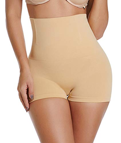 SURE YOU LIKE  Damen Taille Shapewear Figurenformend Miederpants Miederhose Body Shape Bauch Kontrolle Unterwäsche, Tag M/L=size EU(36-42), Beige