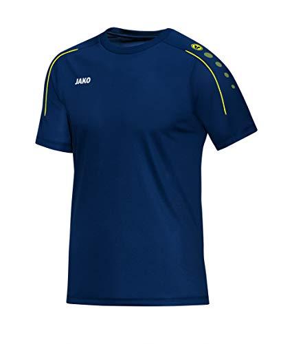 JAKO Herren Classico T-Shirt, Nightblue/Citro, 4XL