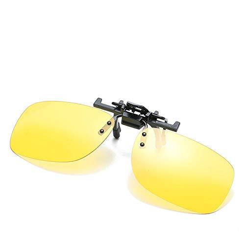 Gafas De Sol Clip Cuadrado Clip Polarizado Gafas de MiopíA con Espejo Polarizado para Conductor,E