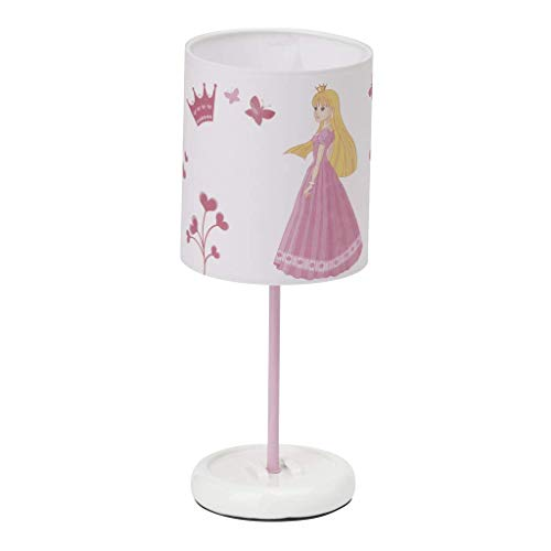 Brilliant Princess LED Tischleuchte 32,5cm weiß/rosa Kinderzimmer, LED integriert