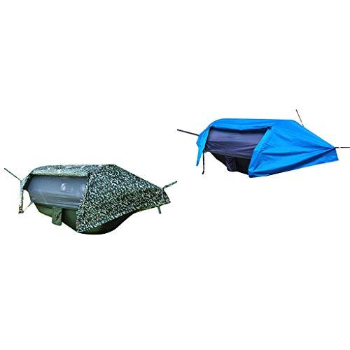 SM SunniMix Hamaca de Camping para Exteriores de 2 Piezas con Mosquitera - Paquete de Tienda de Hamaca Ultraligero con Mosquitera, Correas Y Mosquetones