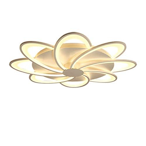 SSLW Decke Light Modern Nordic Minimalist Led Blumengestalt Acryl Creative Bedroom Living Room Pendant Lampe Home Chandelier,White,6heads