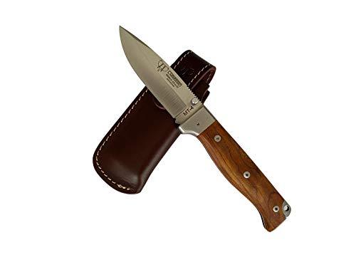 Cudeman 384-K MT-4 Klappmesser Böhler N-695 Stahlklinge von 10 Zentimetern, 11,5 cm Cocobolo Holzgriff für Jagd, Überleben und Bushcraft + Flaschenhalter
