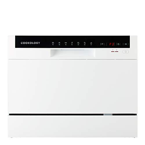 Cookology Mini Counter top, Tabletop Dishwasher, 6 place settings (White)