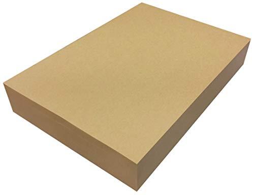 ペーパーエントランス クラフト紙 A4 75.5kg 未晒 500枚 コピー用紙 包装紙 ラッピング ブックカバー ブラウン 55021