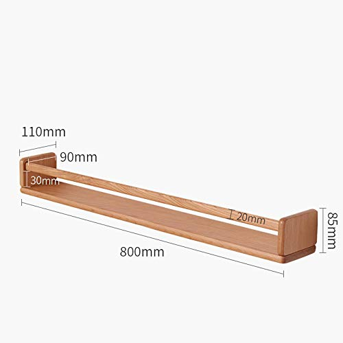 Drijvende Planken, Houten Decoratief, Drijvende Plank Slaapkamer Woonkamer, Home Decor Plant Plank Foto Richel, Drijvende Opslag Plank,Kersenhouten Rek-Kersenhout_800 Mm