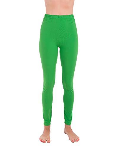 Homma Premium Ultra Soft High Rise Waist Full Length Regular and Plus Size Variety Pack Leggings (S/M/L, Green)