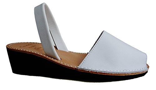 Avarcas menorquínas con tacón/cuña de 4,8 cm, Abarcas, Al