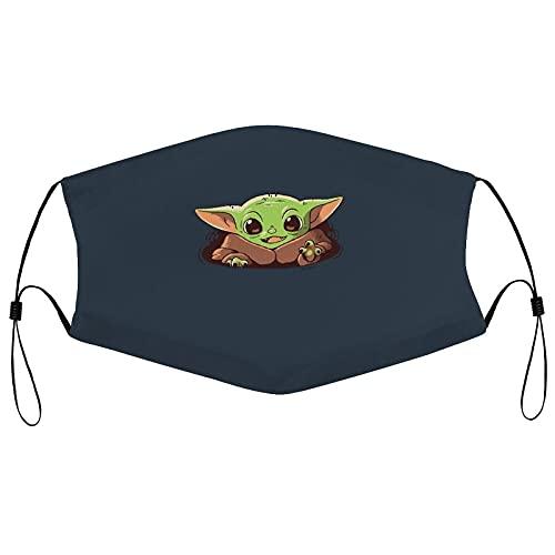 Baby Yoda Star Wars - Maschera per sciarpa, da donna, antipolvere, antivento e protezione UV