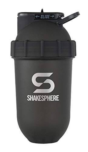 ShakeSphere Tumbler: Protein Shaker Bottle, 700ml - Capsule Shape...