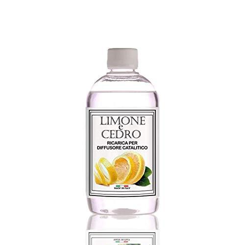 Ricarica Diffusore di profumo per lampada profumata catalitica, 500ml. Limone e Cedro