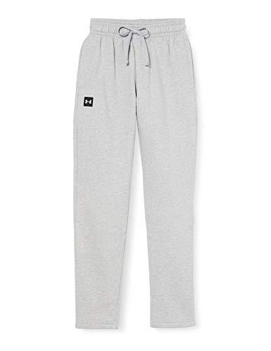 Under Armour Męskie spodnie polarowe Rival wygodne i ciepłe spodnie dresowe, męskie spodnie do joggingu z praktycznymi kieszeniami Szary Mod Gray Light Heather/Onyx White (011) M