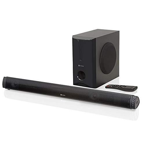 Soundbar 180W RMS 2.1 Canais com Subwoofer, Bluetooth e USB | Goldentec