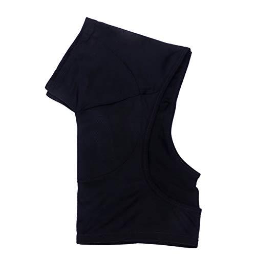 HEALLILY Sweat Guard Vest Underwear Vest Reusable Underarm Armpit Sweat Pads Shields Washable Sweat Shield Vest for Women Black Size L