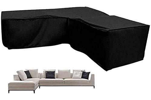 STZYY Cubierta para Muebles de Patio, Impermeables, en Esquina, para Muebles de jardín, en Forma de L, para Exterior, para sofá, 420D, Resistente, Tela Oxford, Juego de protección para sofá, dobla